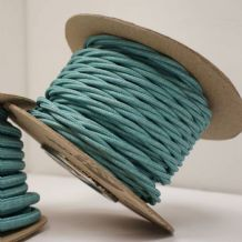 TWIST 2 Core Braided Fabric Cable Lighting Lamp Flex Vintage - TEAL